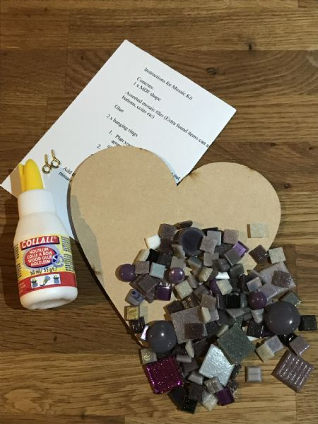 Purple Heart Mosaic Kit
